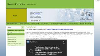 School Parent Portal Samples