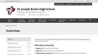 Sir Joseph Banks High School Parent Portal