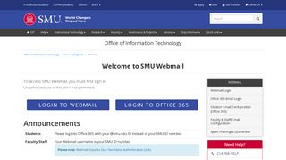 Smu Webmail Login
