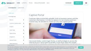 Social Captive Portal