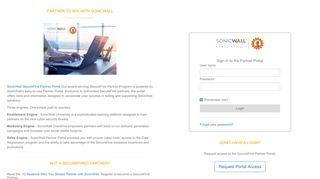 Sonicwall Partner Portal