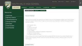 South Hills High School Parent Portal