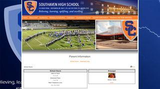 Southaven High School Parent Portal