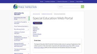 Special Education Portal