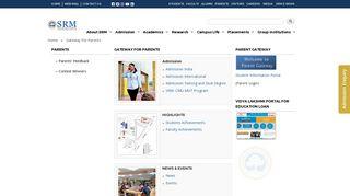 Srm University Parent Portal