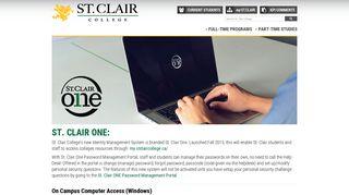 St Clair One Identity Management Portal