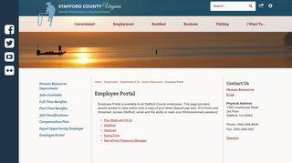 Stafford County Employee Portal