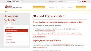 Stock Transportation Parent Portal