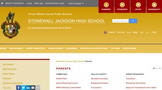 Stonewall Jackson High School Parent Portal