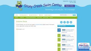 Stony Creek Swim Center Parent Portal