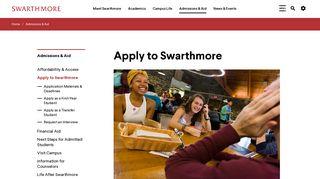 Swarthmore Admissions Portal