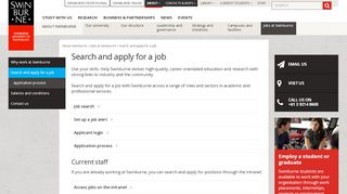 Swinburne Job Portal