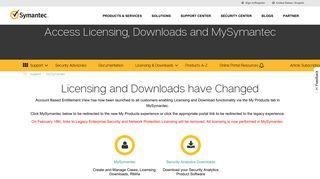 Symantec Client Portal