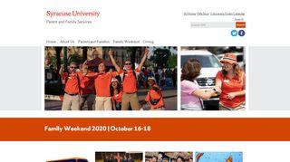 Syracuse University Parent Portal
