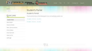 Tabanis Student Portal