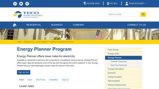 Tampa Electric Energy Planner Login
