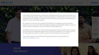 Tata Motors Job Portal