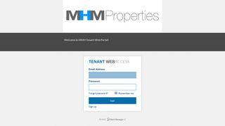 Tenant Web Access Login