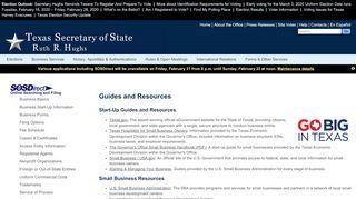 Texas Business Portal