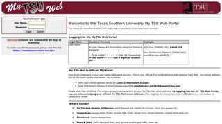 Texas Southern Portal