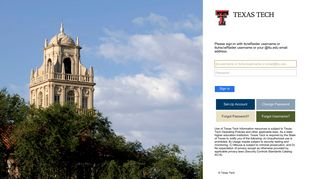 Texas Tech Eraider Portal