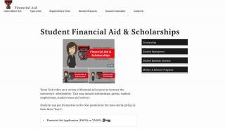 Texas Tech Financial Aid Portal