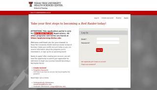 Texas Tech Nursing Application Portal