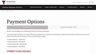 Texas Tech Parent Payment Portal