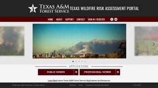 Texas Wildfire Risk Assessment Portal