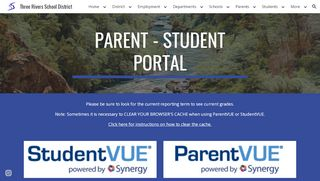 Three Rivers School District Student Portal