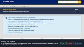 Torbay Planning Portal
