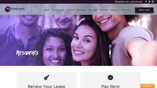 Tremont Student Living Portal