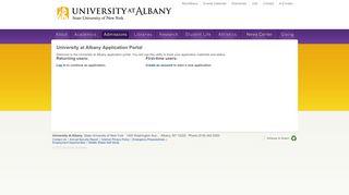 Ualbany Application Portal