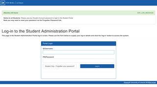 Ul Student Portal