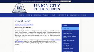 Union City Powerschool Parent Portal
