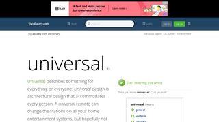 Universalhidef Sign In