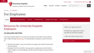 University Hospitals Oracle Login
