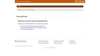 Ut Austin Housing Portal