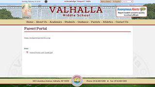 Valhalla Middle School Parent Portal