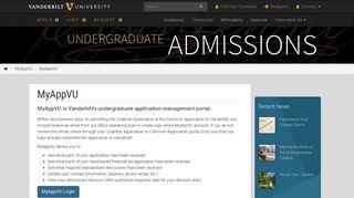 Vanderbilt Applicant Portal
