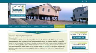 Vanguard Emergency Management Inspector Portal