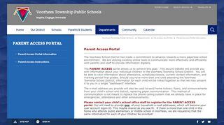 Voorhees Middle School Parent Portal