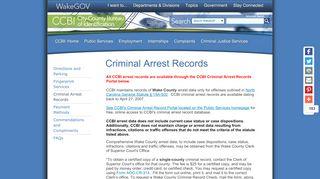 Wake County Ccbi Arrest Portal