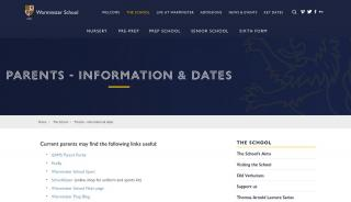 Warminster School Parent Portal
