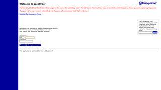 Weborder Online Login