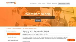 Welocalize Vendor Portal