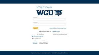 Wgu Student Portal App
