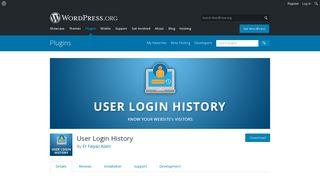WordPress User Login History