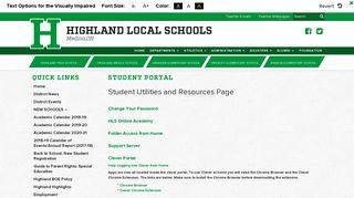 Www Highlandschools Org Student Portal