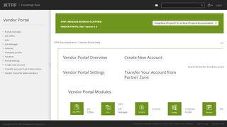 Xtrf Vendor Portal